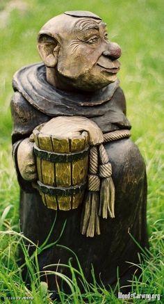monk - limewood, 70 cm