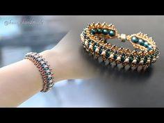 How to make jewelry. Beaded Bracelets Tutorial, Beaded Bracelet Patterns, Paper Beads Tutorial, Beaded Earrings, Diy Bracelet, Peyote Patterns, Making Bracelets With Beads, Jewelry Making, Bracelets
