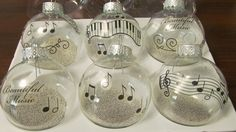 DIY Music Note ornaments