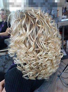 Beautiful platinum curls