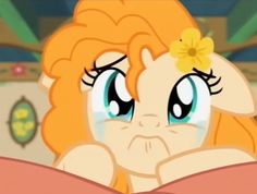 BUTTER CUP CRIES  BECAUSE SHE HAS TO GO Big Macintosh, Pear Butter, Heart Type, Mlp Fan Art, My Little Pony Pictures, My Little Pony Friendship, Equestria Girls, Tweety, Pony Pony