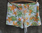 Vintage Ladies Hawaiian Shorts Original Hawaiian Crazy Shirt Surf Trunks Size 5 Beach Wear Surf Wear Deadstock