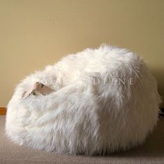 b9d857ef1b6c Large Lush Soft Shaggy Fur Bean Bag Cloud Chair Beanbag for Lounge Rumpus  Home