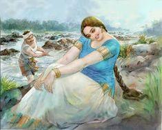 Oil Painting By Burnett Info: 8440890230 Indian Women Painting, Indian Art Paintings, Cool Paintings, Beautiful Paintings, Abstract Paintings, Sexy Painting, Woman Painting, Artist Painting, Painting Trees