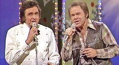Footage of Johnny Cash & Roy Clark's magical Christmas Medley resurfaces. Christmas Medley, Classic Christmas Songs, Magical Christmas, Country Music Lyrics, Country Singers, Johnny Cash June Carter, Roy Clark, Latest Celebrity Gossip, Here's Johnny