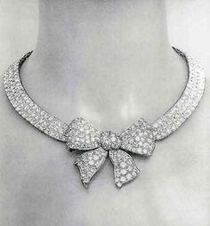 "1932 CHANEL Diamond Necklace by Chanel. From ""Jewelry by Chanel"" by Mauries."