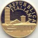 Монета: 50,000 Lire (1600th Death Anniv. of the death of St. Ambrose (Италия) (1970~2001 - Республика (Лиры) - Памятные Монеты) WCC:km191