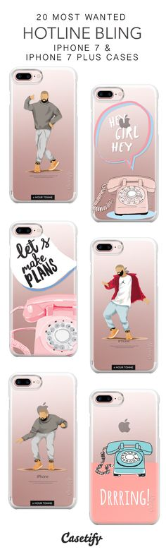 20 Most Wanted Hotline Bling Protective iPhone 7 Cases and iPhone 7 Plus Cases. More Telephone iPhone case here > https://www.casetify.com/collections/top_100_designs#/?vc=xhaDDzRUTF
