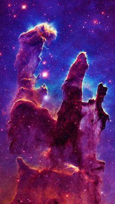 Eagle Nebula - Pillars of Creation Eagle Nebula, Orion Nebula, Andromeda Galaxy, Helix Nebula, Carina Nebula, Space Artwork, Wallpaper Space, Galaxy Wallpaper, Hubble Pictures