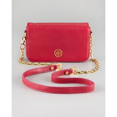 Tory Burch Robinson Crossbody Mini Bag ($350) ❤ liked on Polyvore