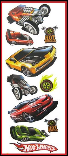 Superb HOT WHEELS Wall Stickers Part 17