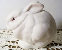 "Signed CYBIS White Bunny Rabbit ""Mr. Snowball"" A20611"