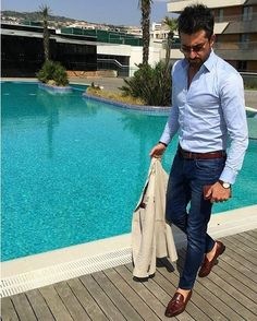 Mens Fashion Smart – The World of Mens Fashion Mens Fashion Blog, Fashion Mode, Fashion Outfits, Fashion Photo, Fashion News, Gentleman Mode, Gentleman Style, Smart Casual, Casual Looks