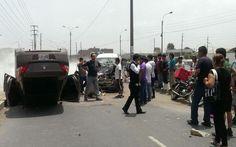 Comas: camioneta quedó con las llantas hacia arriba tras fuerte choque