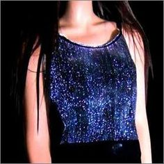 Luminous fabric and fiber optic fabric items for decoration, clothing, special events, architecture Fiber Optic, Beautiful Lights, Light Colors, Textiles, Sexy, Fabric, Technology, Cotton, Shirts