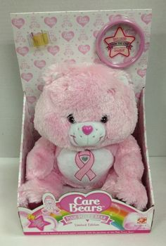 Care Bears Pink Power Limited Edition Breast Cancer Bear Plush Stuffed Animal
