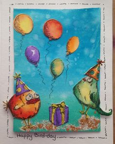 crazy birds crazy cats tim holtz by jennie black - Cards and Paper Crafts at Splitcoaststampers