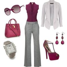 Fashionable Work Outfit Ideas for… - Wear to Work Outfits Business Outfits, Business Attire, Business Fashion, Business Casual, Business Professional, Business Women, Komplette Outfits, Casual Outfits, Woman Outfits