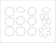 felt+bow+template | Determine the type of flower you want and go from there.
