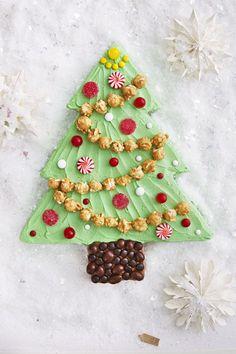 Christmas Tree Sheet Cake - CountryLiving.com