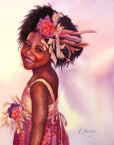 NEW Sweet Boo 8x10 African American art print by MossyRockDesigns, $20.00