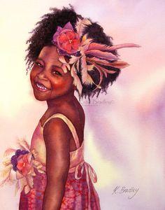 Sweet Boo 5x7 African American art print