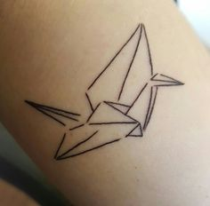 My new origami crane tattoo 3>