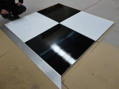portable 3FTX3FT polywood Black and white dance floor factory