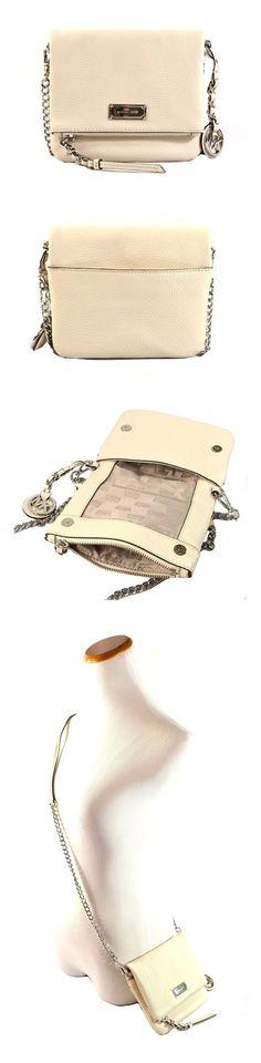4b472907e54f  109.99 - Michael Kors Corinne Extra Small Leather Crossbody Bag Purse  Handbag Ecru  michaelkors