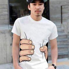 Camiseta engraçada mão corpo