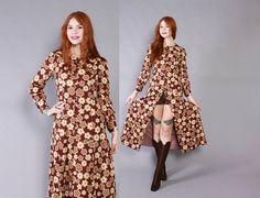 Vintage 60s DRESS / 1960s Mod Boho Floral by luckyvintageseattle