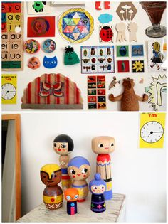 all kind of little memories on the wall. cute!