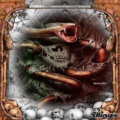 Skull n Snake Snake Gif, Photo Editor, Gothic, Skull, Pictures, Photos, Grimm, Skulls, Goth