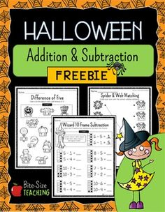 Help your first and second graders master their addition & subtraction facts within 20 with this spooktacular Halloween Addition & Subtraction FREEBIE!What are They?These Halloween Addition & Subtraction Strategy Worksheets provide young mathematicians with a toolbox of strategies to solve addition and subtraction problems within 20 with a fun Halloween twist!