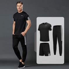 3 Pcs/Sets Sports T-Shirt Men's Suits Running Shrits Sports Shorts Jogging Pants Mens Sportswear Suit Soccer Play Gym Sets New Floral Print Pants, Printed Pants, Sport Shorts, Sport T Shirt, Men's Shorts, Running Suit, Track Suit Men, Jogger Pants, Mens Suits