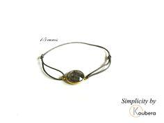 #koubera #accessoire de mode #bijoux #bracelet #pierre #quartz #plaque or #simplicity #mode #femme #2015
