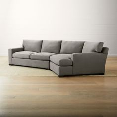 Sale ends soon. Shop Axis II Right Arm Angled Chaise Sectional Sofa. This two-piece sectional comprises a left arm apartment sofa and right arm angled chaise. Track arms create a clean look, and low back cushions and deep seats encourage lounging. Casual Living Rooms, Furniture, Sofa Clearance, Sectional Sofa, Chaise Sofa, Sectional, Cheap Furniture Near Me, Apartment Sofa, Sectional Furniture