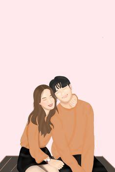 Cute Couple Drawings, Cute Couple Art, Cute Wallpaper Backgrounds, Cute Cartoon Wallpapers, Cartoon Drawings, Cartoon Art, Book Cover Background, Wattpad Book Covers, Cute Love Images