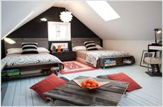Adorable Attic room design jobs,Attic renovation nj and Attic bedroom vintage. Teen Room Designs, Attic Bedroom Designs, Attic Design, Teen Boys Room Decor, Teen Boy Rooms, Kids Bedroom, Bedroom Ideas, Extra Bedroom, Bedroom Decor