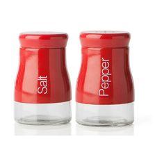 Sada červené slánky a pepřenky Sabichi, 120 ml Marceline, Salt And Pepper, Martini, Water Bottle, Stuffed Peppers, Organizing, Design, Kitchen, Products
