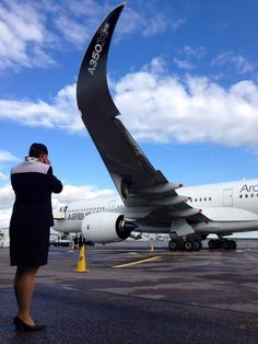 """""""The beauty was here! The A350XWB visited us at the Helsinki Airport today. Helsinki was the last stop of the #A350XWBworldtour. Finnair will be the first European carrier to receive A350's, and starting autumn 2015, we'll be flying with A350's to Shanghai, Bangkok and Beijing. """"http://www.finnairgroup.com/mediaen/mediaen_7.html?Id=xml_1670596.html"""