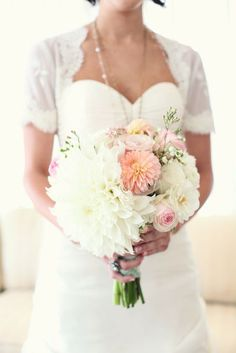 Dahlia wedding flower bouquet