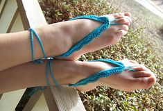 Ravelry: Simply Classy Barefoot Sandals pattern by RaeLynn Orff