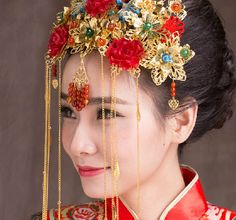 Chinese-Traditional-Bridal-Headdress-Ethnic-Hair-Jewelry-Dragon-and-Phoenix-Gown-Headwear-Wedding-Coronet-Frontlet-Tassel.jpg (609×568)