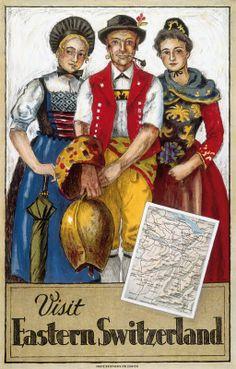 1926 'Visit Eastern Switzerland' travel poster by Hugo Laubi.