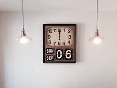 Big Wall clock for the kitchen with globe balls