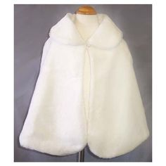 NEW GIRLS WHITE FAUX FUR PAGEANT WEDDING CAPE X-LARGE - eBay (item 200211478331 end time Apr-03-08 19:39:46 PDT) found on Polyvore