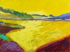 Ellen Levine Dodd mixed media Sausalito CA Golden Pond   I just want it GIANT.. this offering is too small!