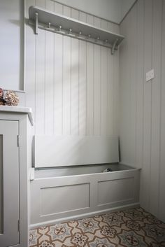 Shaker wall panelling is a lovely way of adding charm and character to your home, and is easily wiped clean too!