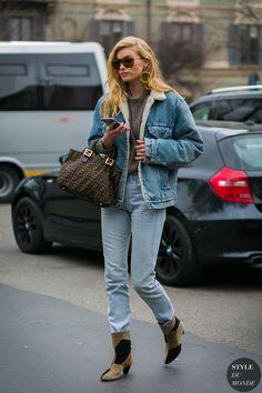 Elsa Hosk by STYLEDUMONDE Street Style Fashion Photography